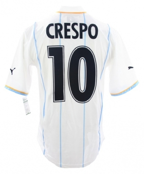 Puma Lazio Rom jersey 10 Hernan Crespo 2001/2002 away white blue men's M
