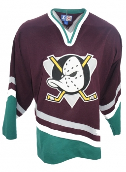 Starter Anaheim Mighty Ducks jersey NHL Walt Disney away blue men'S XL