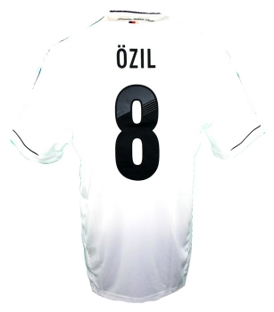 Adidas Germany jersey 8 Mesut Özil Euro 2012 home white mens XL