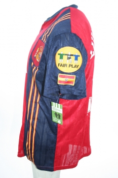 Adidas Spain jersey 21 Luis Enrique Euro 1996 red home Matchworn men's L