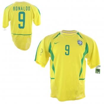 quality design 827c6 825ab Nike Brasilien Trikot 10 Ronaldinho 6 Roberto Carlos 10 Rivaldo WM 2002 Neu  Herren M/L/XL