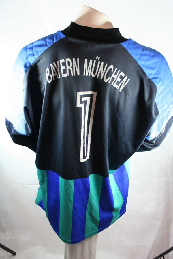 adidas Bayern Munich Munchen 1992 1993 torwart trikot blau