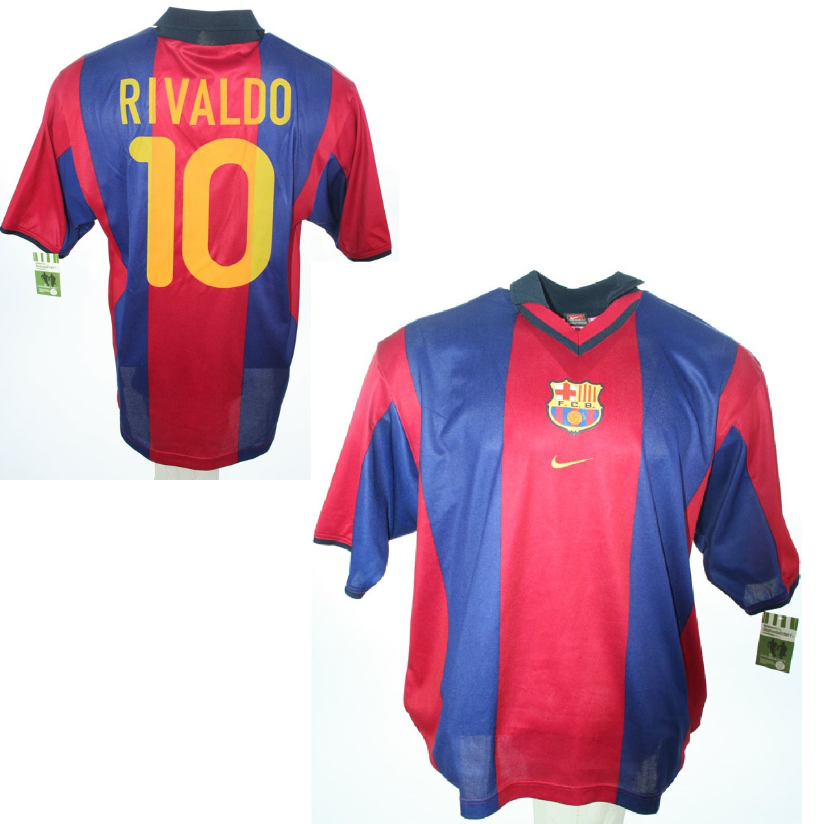 nike fc barcelona jersey 11 rivaldo home 2000 2001 blue red s m l xl xxl shirt buy order cheap online shop spieler trikot de retro vintage old football shirts jersey from super stars nike