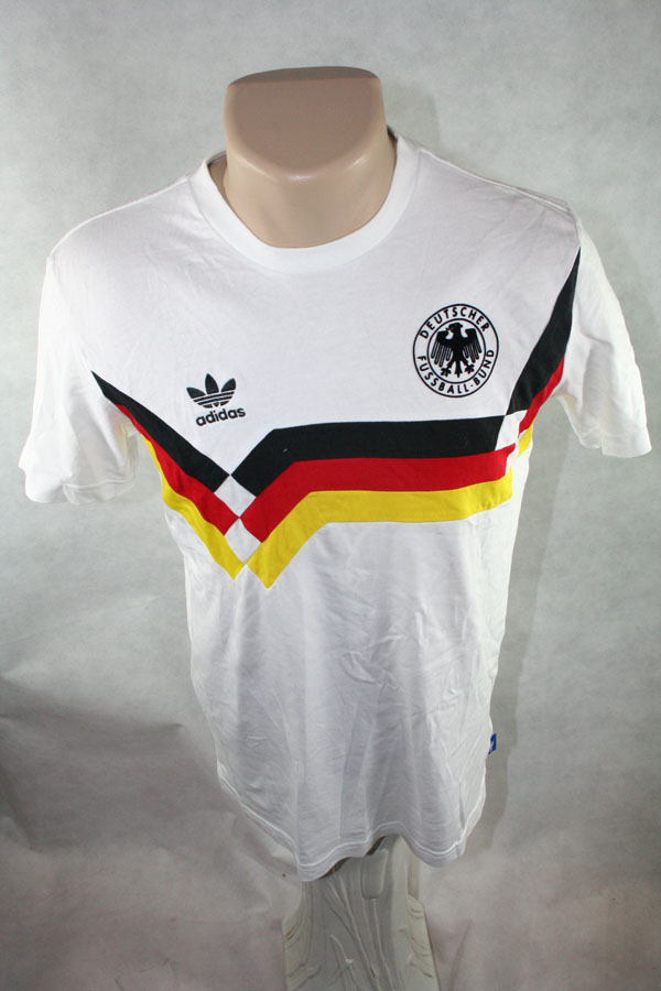 Adidas Deutschland T Shirt Trikot 10 Lothar Matthäus 1990