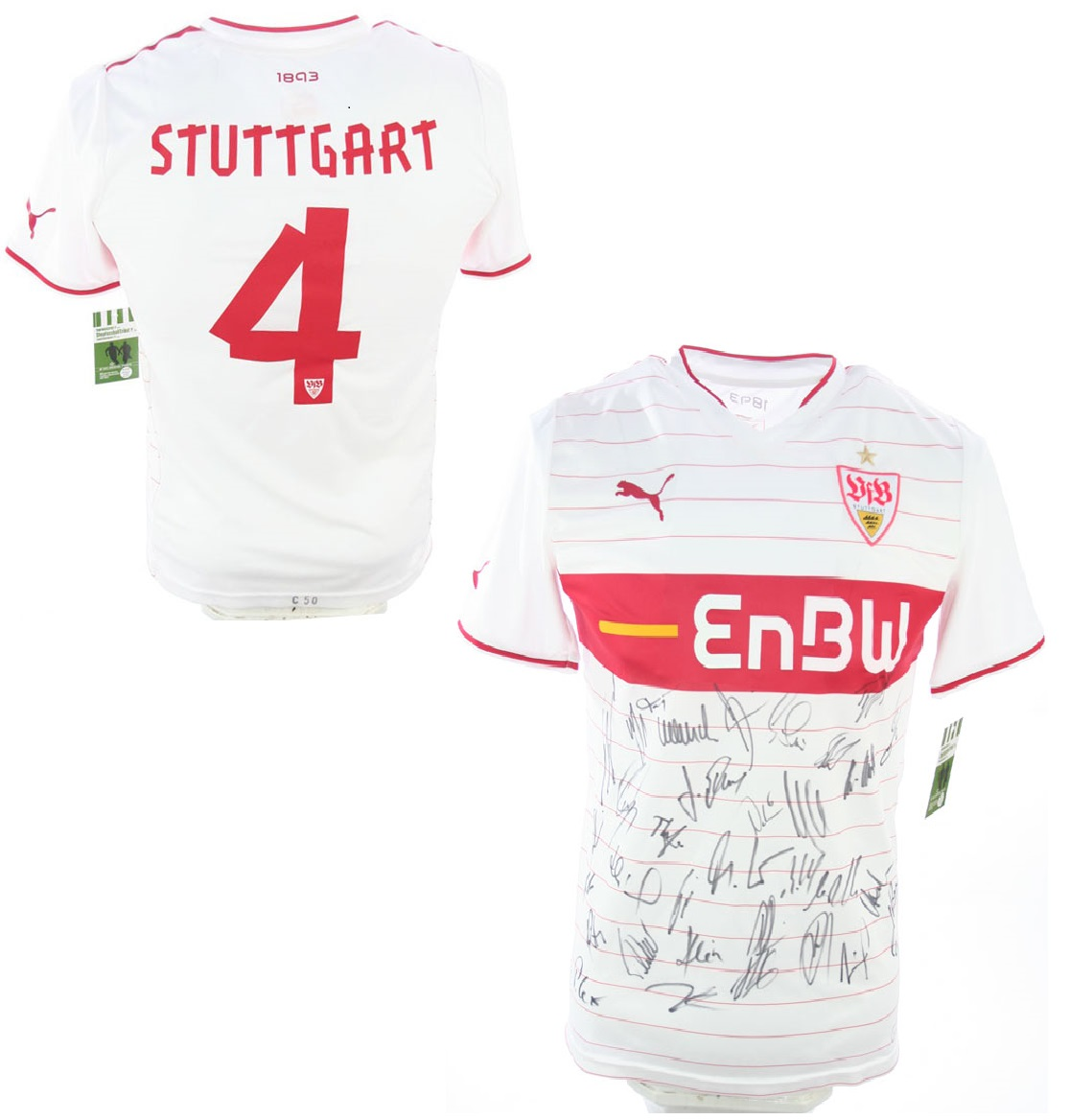 Puma VfB Stuttgart Trikot 200910 vom TeamKader Hand