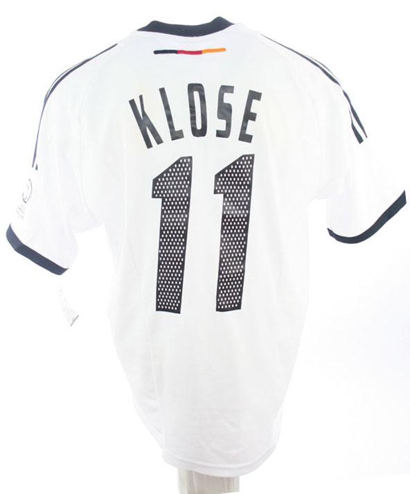 Adidas Deutschland Trikot 11 Miroslav Klose WM 2002 DFB Heim