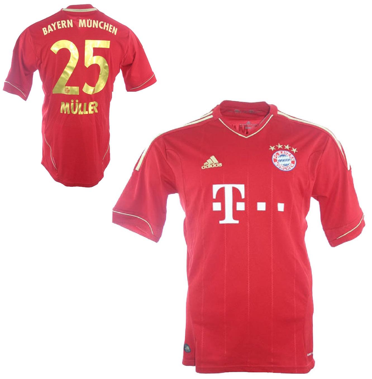 Adidas FC Bayern Munich München jersey 25 Thomas Müller 2012/13 Home men's  S/M/L/XL/XXL football shirt buy & order cheap online shop -  spieler-trikot.de retro, vintage & old football shirts & jersey from