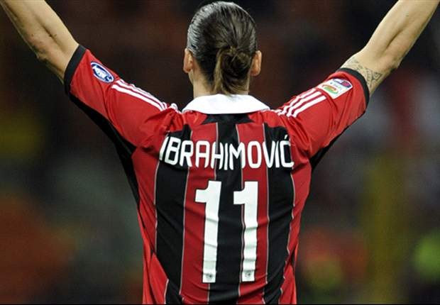 AC MAILAND MILAN Zlatan Ibrahimovic Trikot Adidas Gr. M