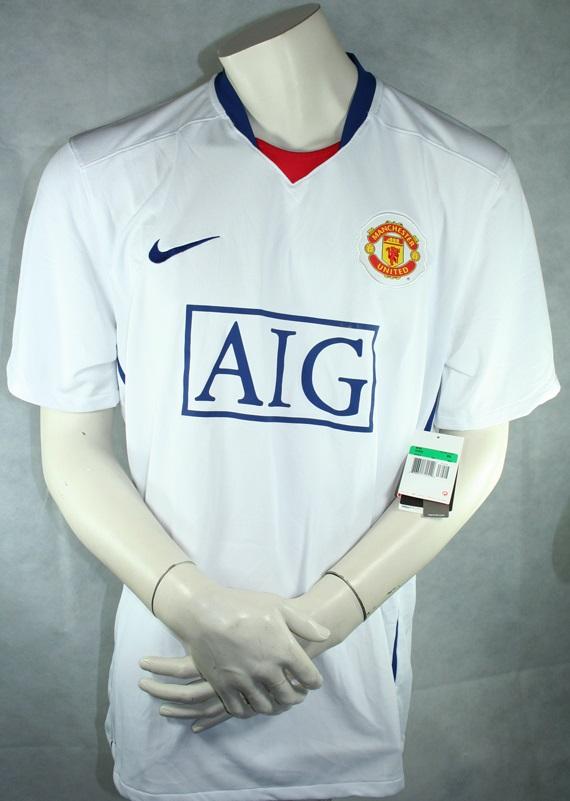 Nike Manchester United Trikot 200809 AIG Neu Weiß Herren S