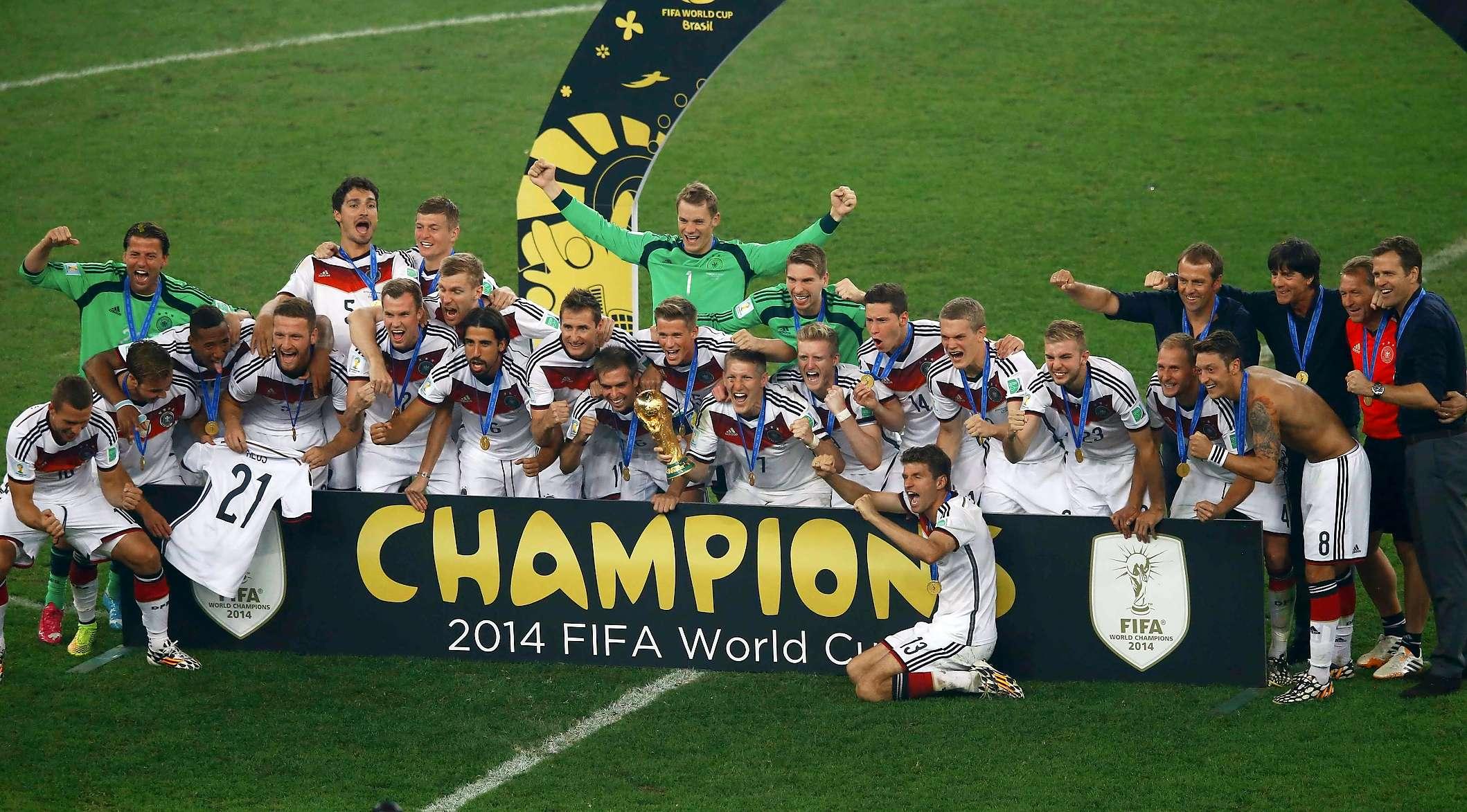 Adidas Germany DfB T Shirt Home coming 2014 white 4 stars