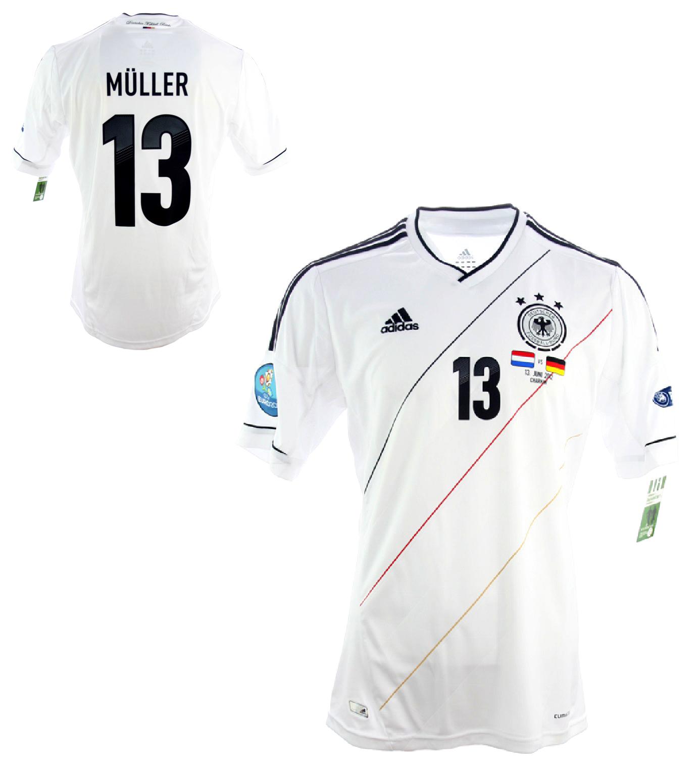 adidas Adidas Deutscher Fussball Bund Muller Men's T shirt, White
