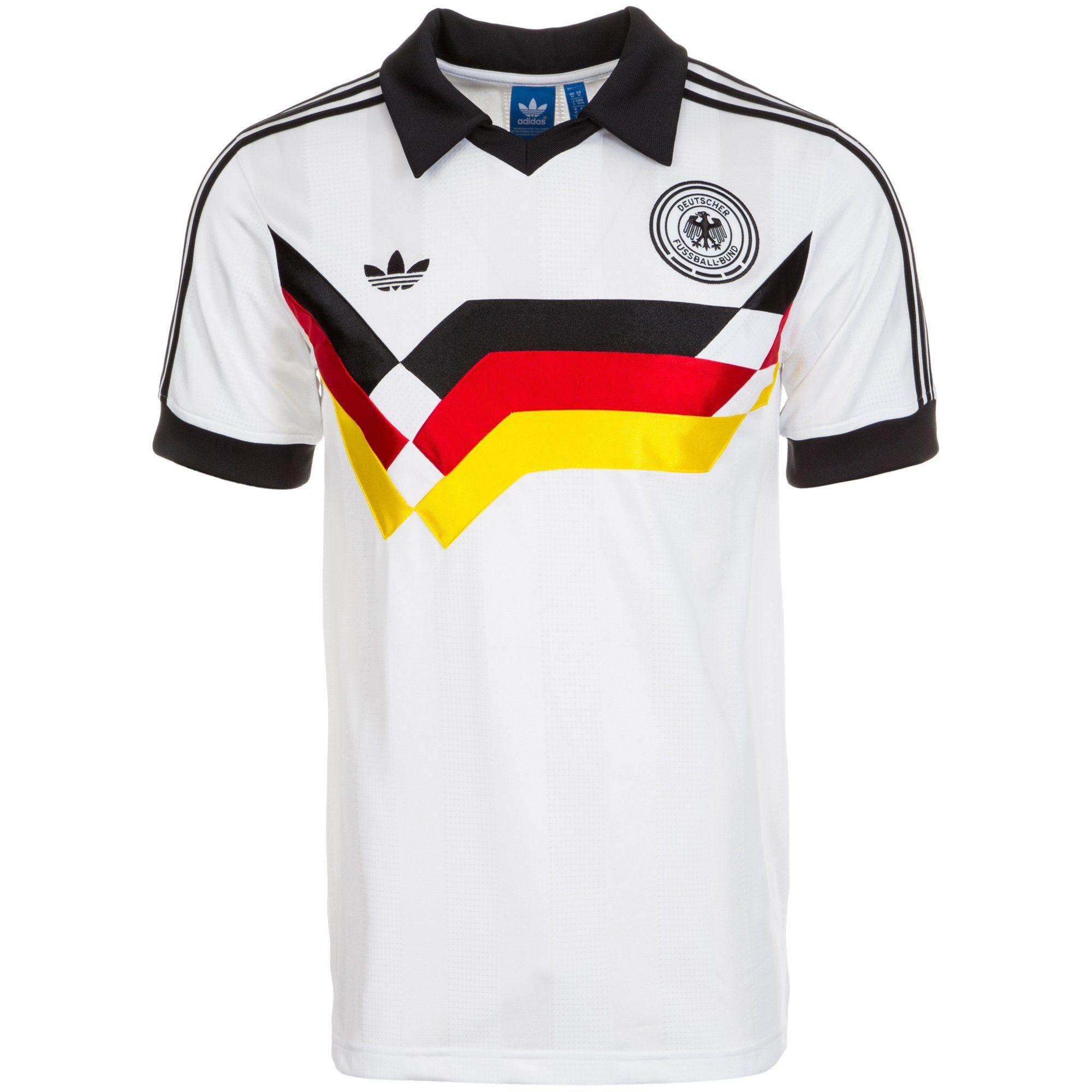 rendimiento superior calidad elige el más nuevo Adidas originals Germany jersey DfB T-Shirt 1990 white men's  XS/S/M/L/XL/XXL shirt buy & order online Shop - spieler-trikot.de retro,  vintage & old football shirts & jersey from super stars