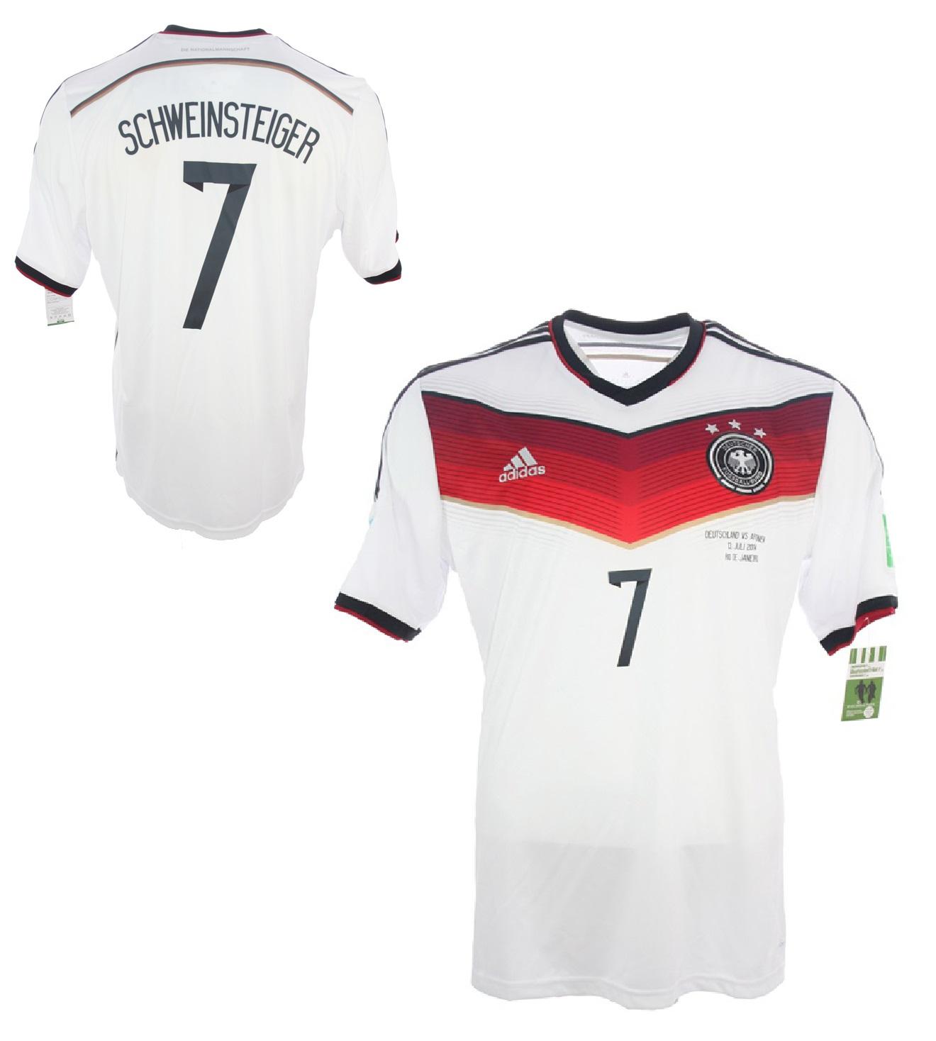 Adidas Deutschland Trikot 7 Bastian Schweinsteiger WM 2014