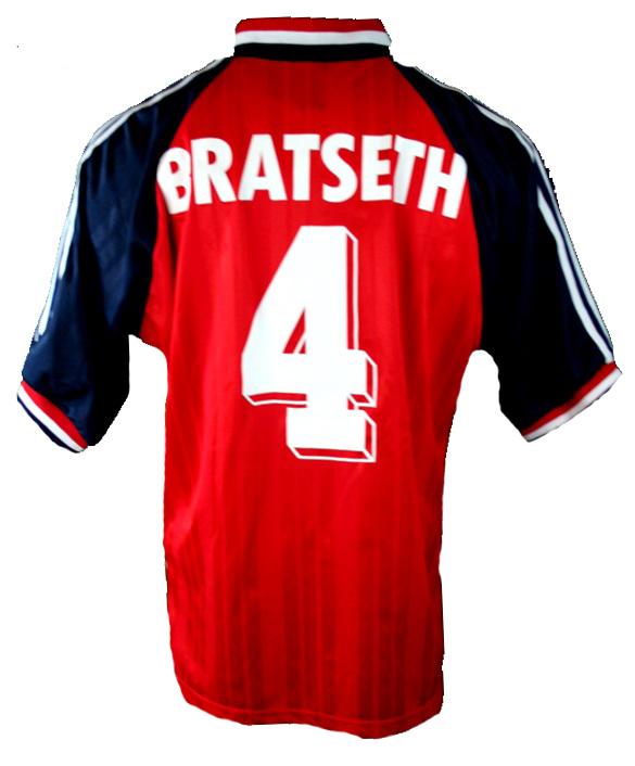 Adidas Norwegen Trikot 4 Rune Bratseth WM 1994 USA Rot Heim