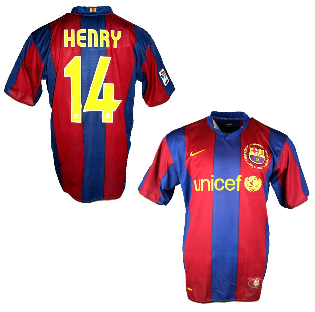 Nike Fc Barcelona Jersey 14 Thierry Henry 2007 08 Unicef Home Blue New With Tags Men S S M L Xl Xxl Football Shirt Buy Order Cheap Online Shop Spieler Trikot De Retro Vintage Old Football Shirts