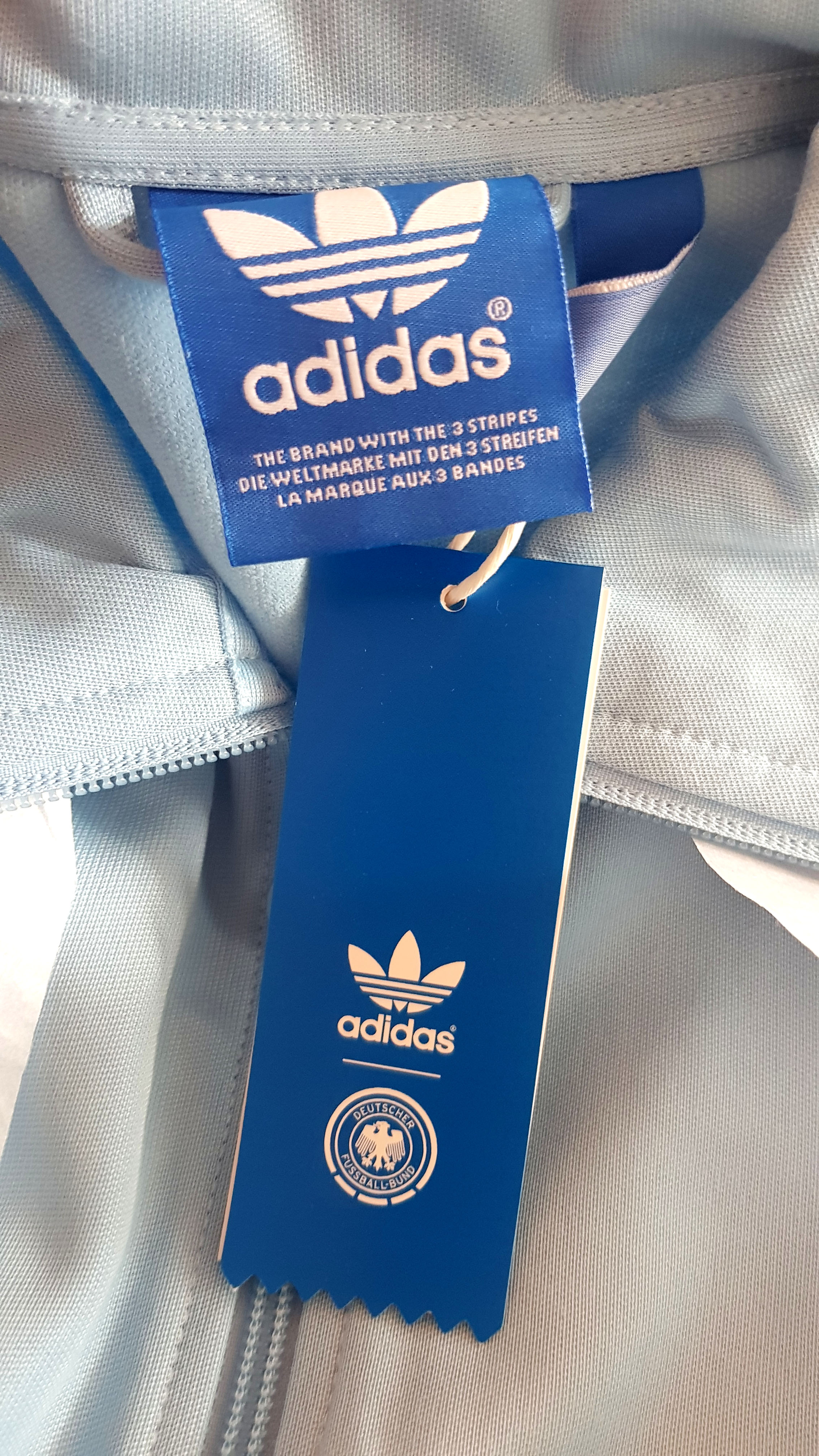 Adidas Deutschland Trainings Jacke WM 1974 Originals TT Blau
