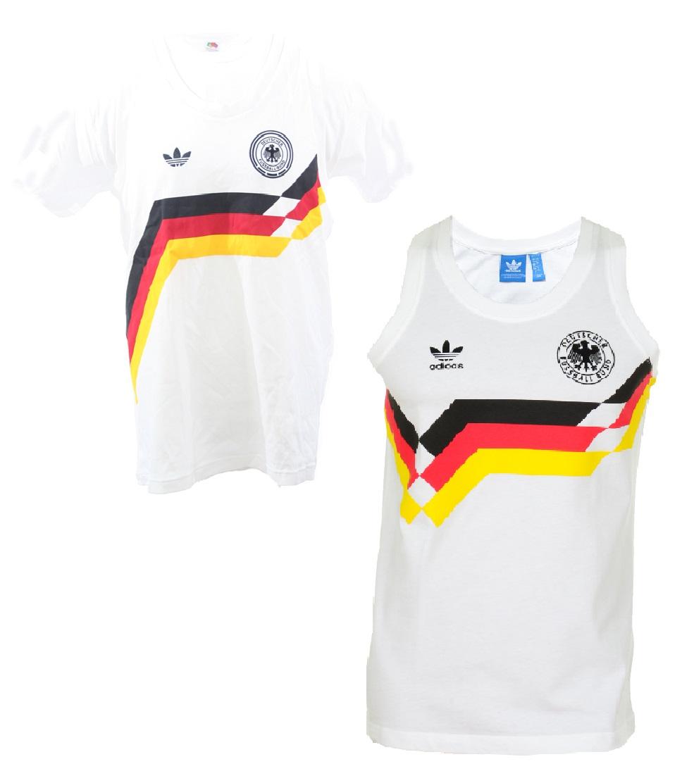 Adidas Deutschland Tank Top T shirt 1990 weiß Originals DFB