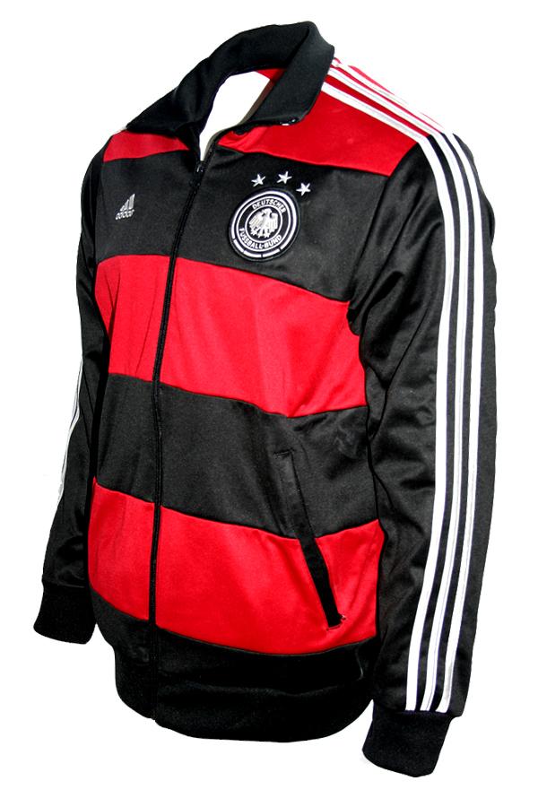 Adidas Deutschland Jacke 2014 Away Schwarz Rot TT DFB Herren