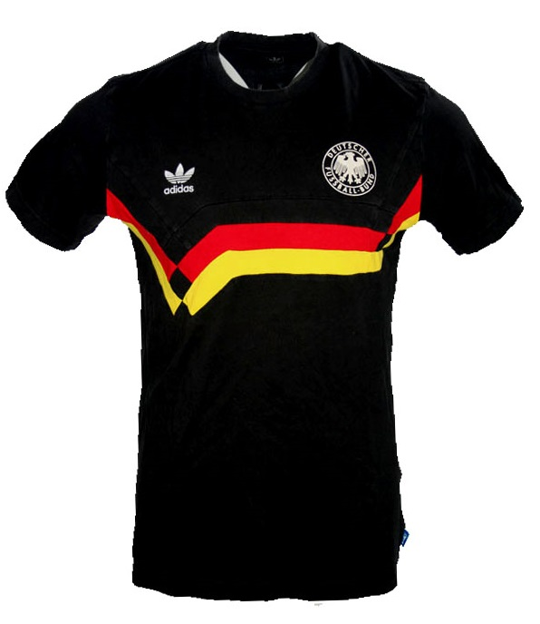 professional sale a few days away check out Adidas Deutschland T-shirt Trikot DFB WM 90 1990 Schwarz ...