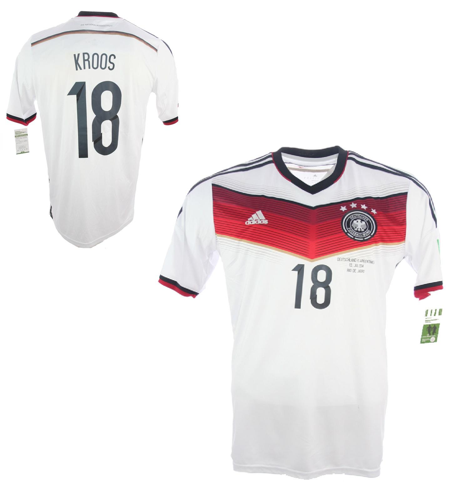 Adidas Deutschland Trikot 18 Toni Kroos WM 2014 DFB Neu Heim
