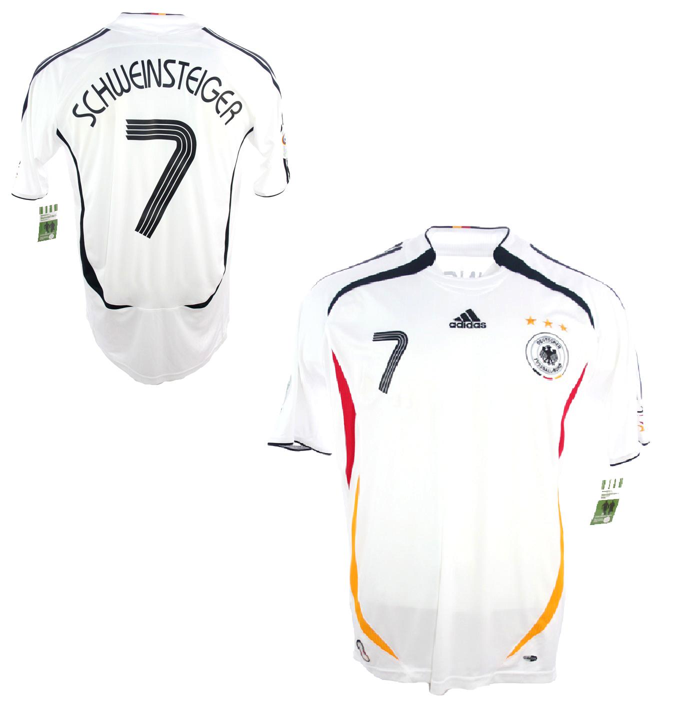 Adidas Deutschland Trikot 7 Bastian Schweinsteiger WM 2006