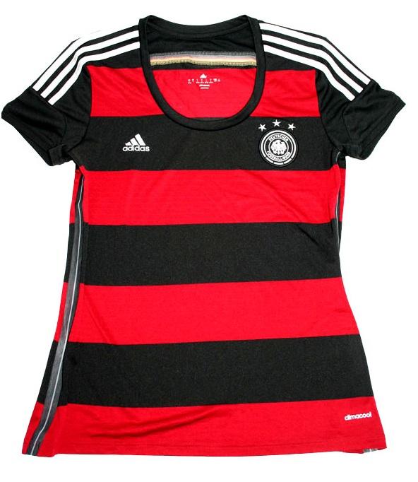 Adidas Deutschland Trikot WM 2014 DFB Rot schwarz Neu Damen XS oder S 30 32 34 36