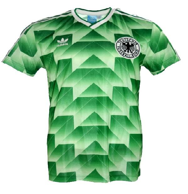 Adidas Deutschland Trikot WM 1990 Grün DFB Away Neu Herren S