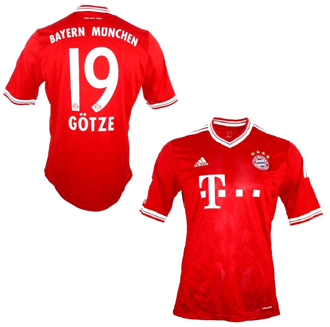 Details zu Original FC Bayern München Trikot Nr. 19 Götze Gr. S Adidas