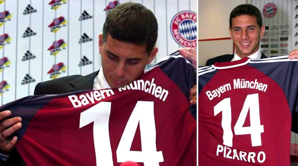 Adidas FC Bayern Munich jersey 14 Claudio Pizarro 2001/02 Opel ...