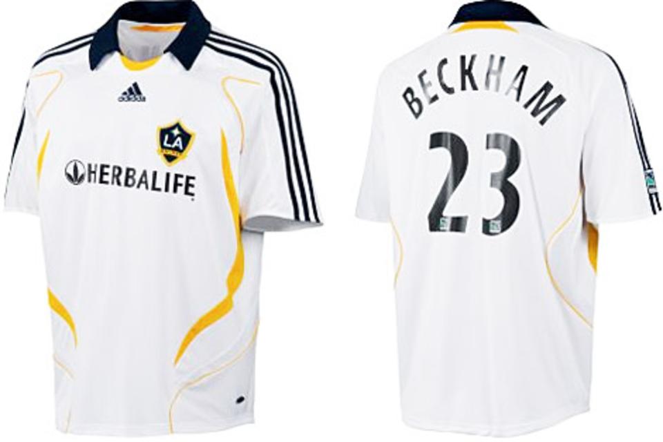 Matemático piel claramente  Adidas Los Angeles Galaxy jersey 23 David Beckham 2007/08 men's  S/M/L/XL/XXL football shirt buy & order cheap online shop -  spieler-trikot.de retro, vintage & old football shirts & jersey from super  stars