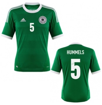 in stock wide varieties new lifestyle Adidas Deutschland Trikot 5 Mats Hummels 2012 Away DFB Grün Herren XXL