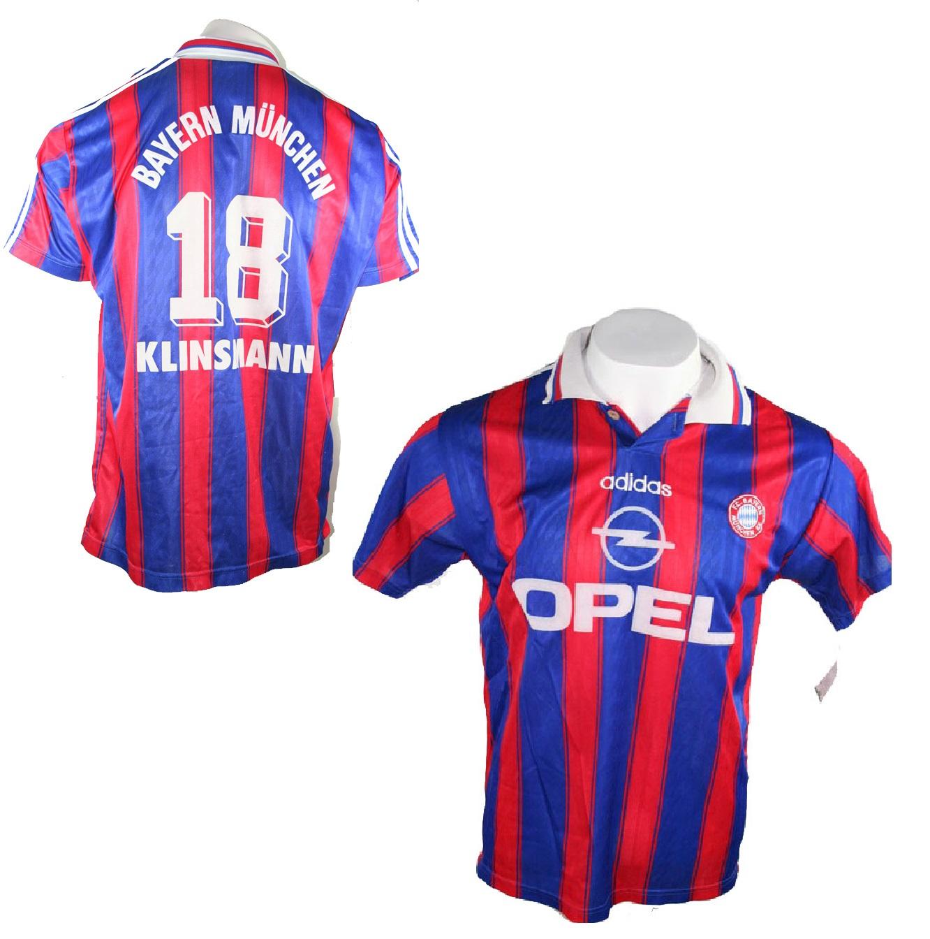 Adidas FC Bayern München Trikot 18 Jürgen Klinsmann 1995