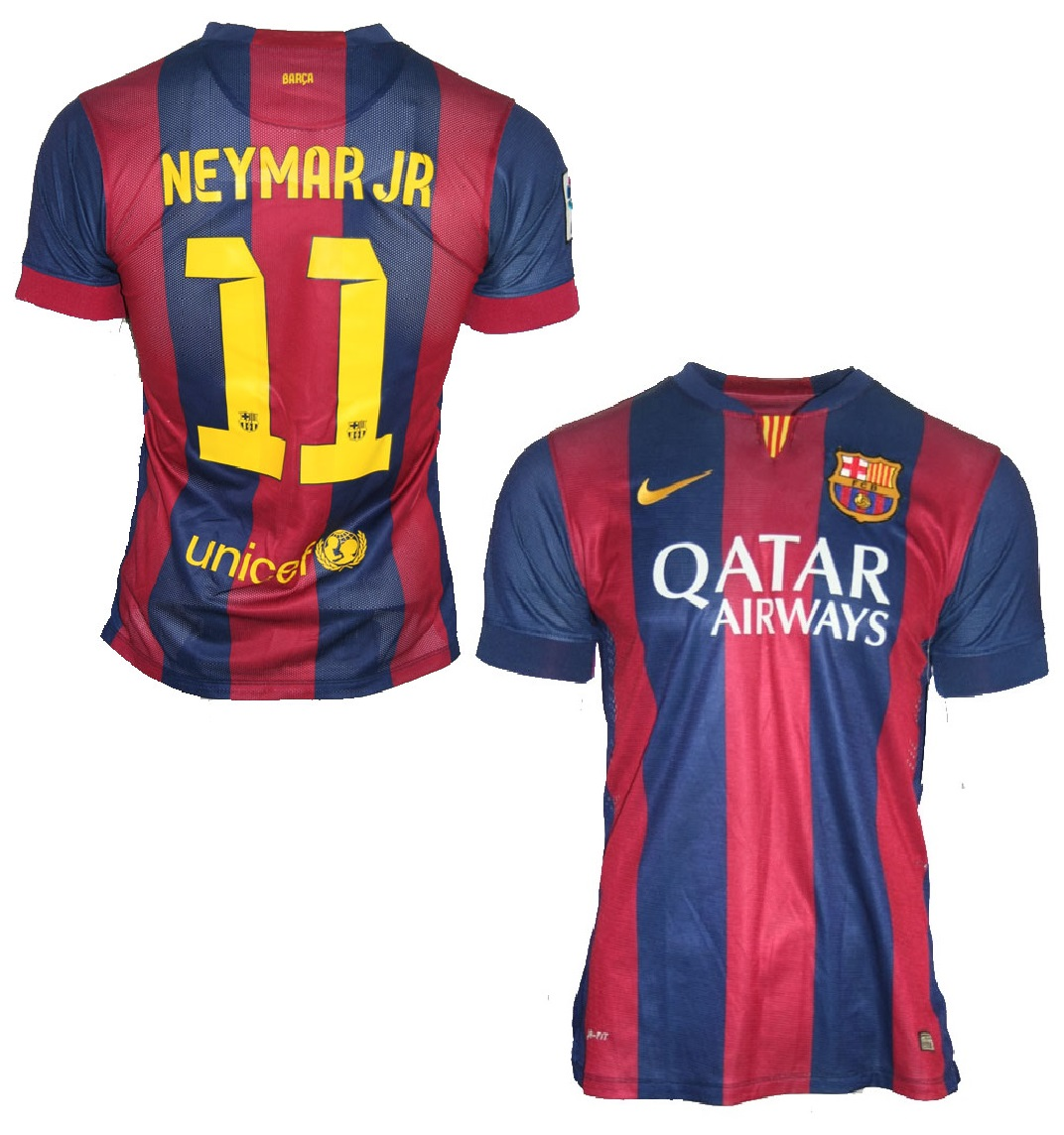 Nike Fc Barcelona Jersey 11 Neymar 2014 15 Qatar Men S S M L Xl Xxl Football Shirt Buy Order Cheap Online Shop Spieler Trikot De Retro Vintage Old Football Shirts Jersey From Super Stars