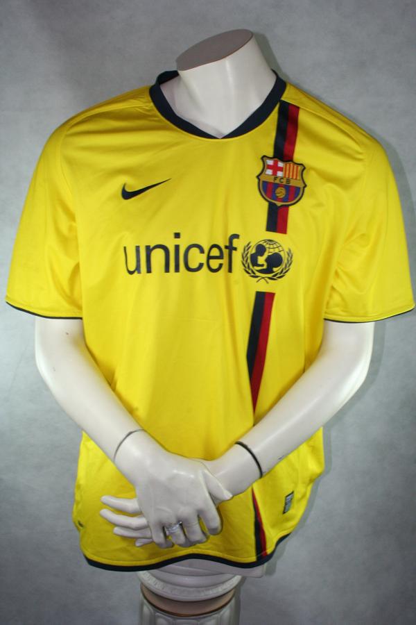 Nike Fc Barcelona Jersey 9 Samuel Eto O 2008 09 Unicef Yellow Men S S M L Xl Xxl 2xl Football Shirt Buy Order Cheap Online Shop Spieler Trikot De Retro Vintage Old Football Shirts Jersey From Super