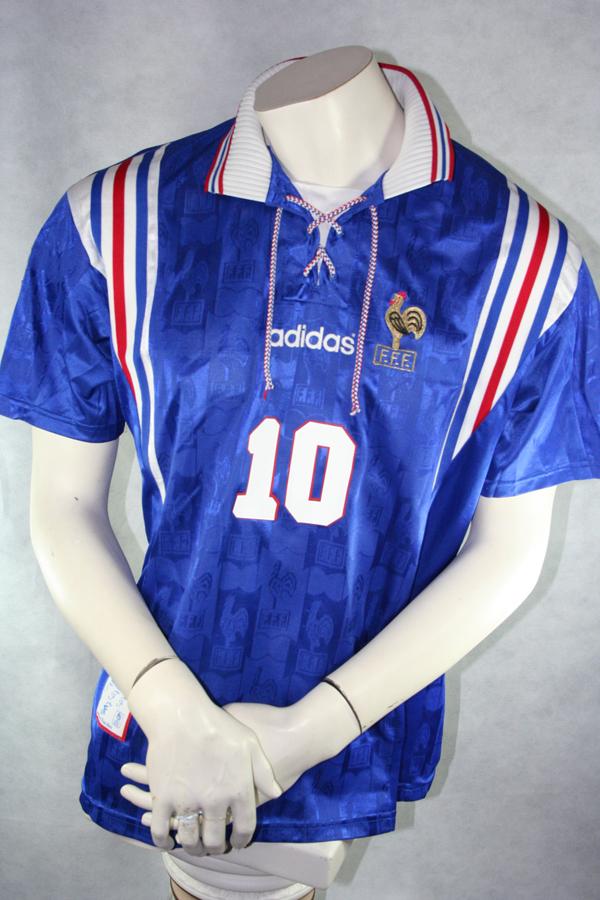 Adidas Frankreich Trikot 10 Zinedine Zidane Euro 1996 EM