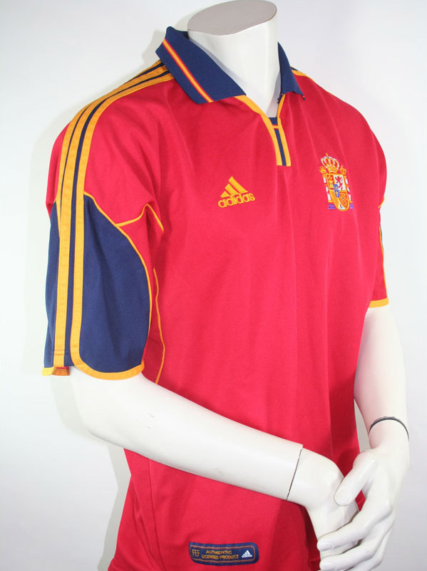 Spain Jersey Euro 2000 size XL Home Version in red Adidas