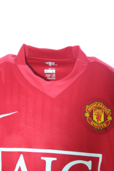 Nike Manchester United jersey 10 Wayne Rooney 2007/08 AIG red home men's S