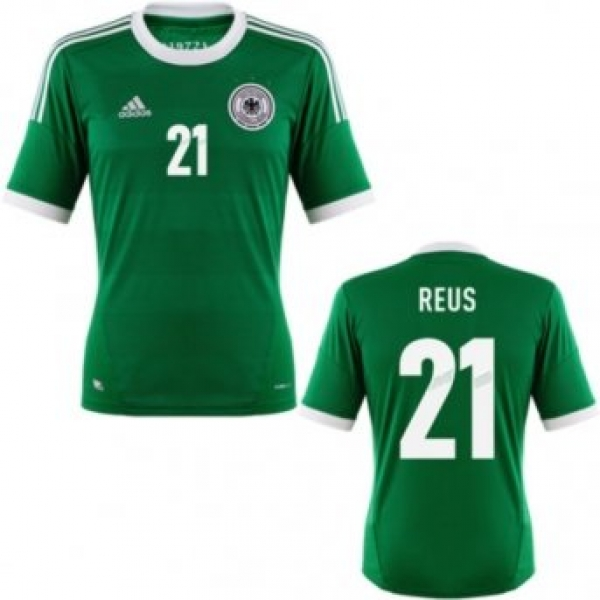 Adidas Germany jersey 21 Marco Reus green away men's S/M/L ...