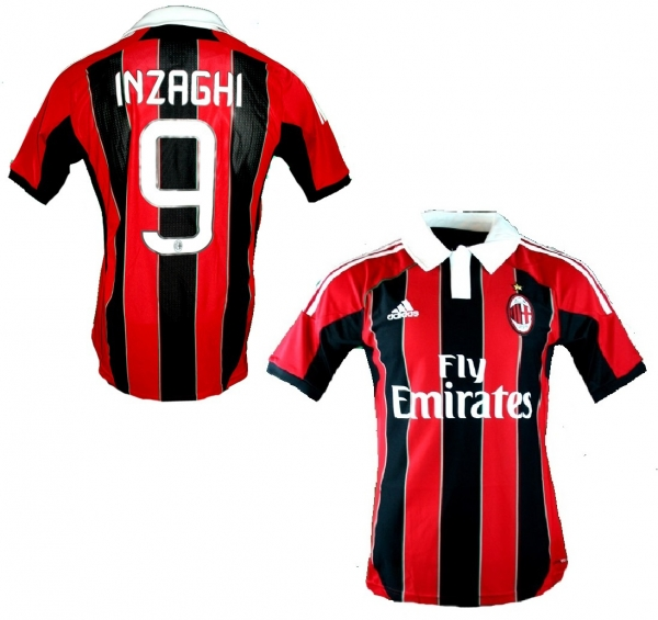 Adidas AC Milan jersey 9 Filippo Inzaghi  2012/13 CL home new men's S