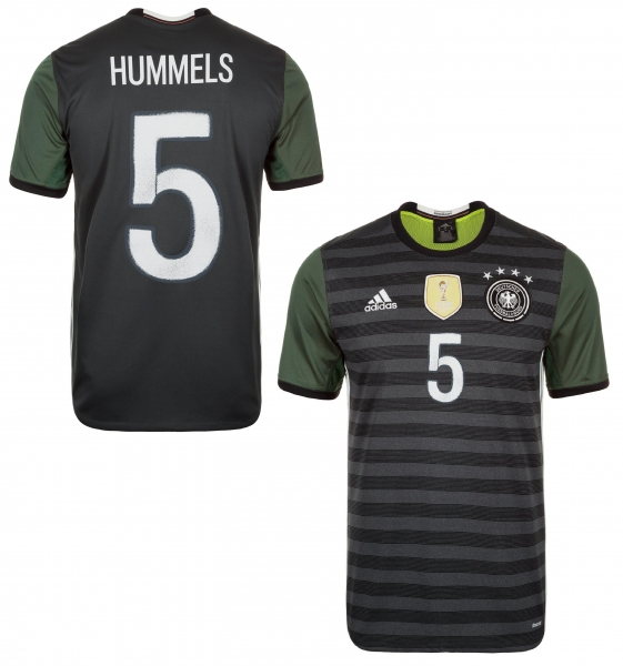Adidas Germany jersey 5 Mats Hummels Euro 2016 away grey men's M - Kopie