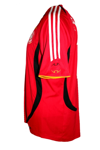Adidas Germany jersey 14 Gerald Asamoah 2006 home red away men's L