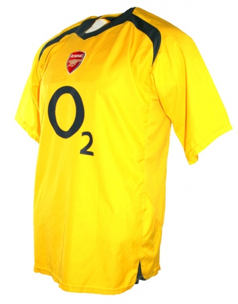 Nike FC Arsenal jersey 14 Thiery Henry 2005/06 yellow CL final men's XL