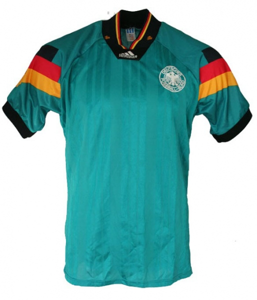Adidas germany jersey 1992 92 Euro Away green men's S/M/L/XL