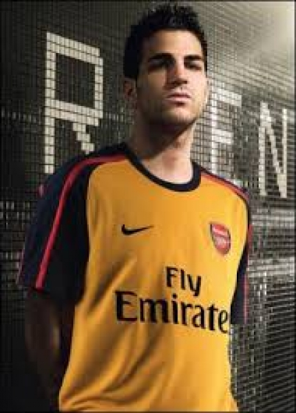 Nike FC Arsenal London jersey 4 Cesc Fabregas 2009/10 Fly Emirates away men's XL