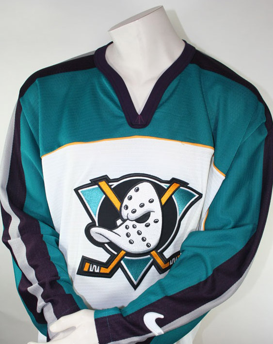 Nike Anaheim Mighty Ducks jersey1992-1998 NHL Walt Disney white men's L or XL