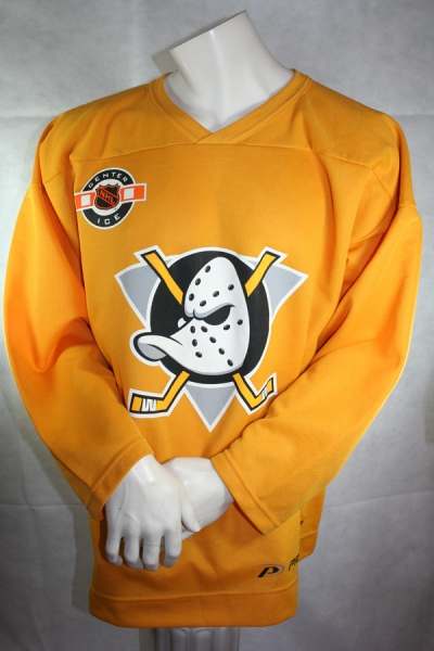 Pro Player Anaheim Mighty Ducks Jersey NHL yellow Authentic mens XL