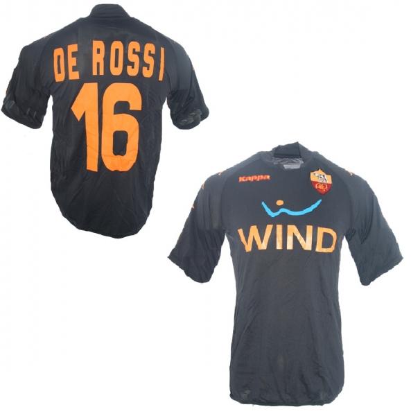 on sale cc693 a9903 Kappa AS Rom Trikot 16 Daniele De Rossi 2008/09 Wind Rot Away Herren L