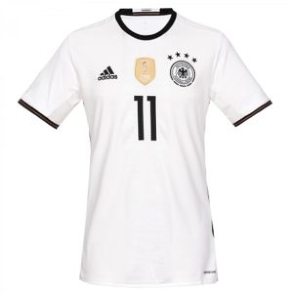 Adidas Germany jersey 11 Marco Reus Euro 2016 home white men's M