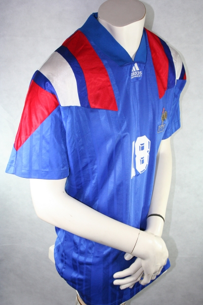 Adidas France jersey 18 Éric Cantona Euro 1992 home blue men's L