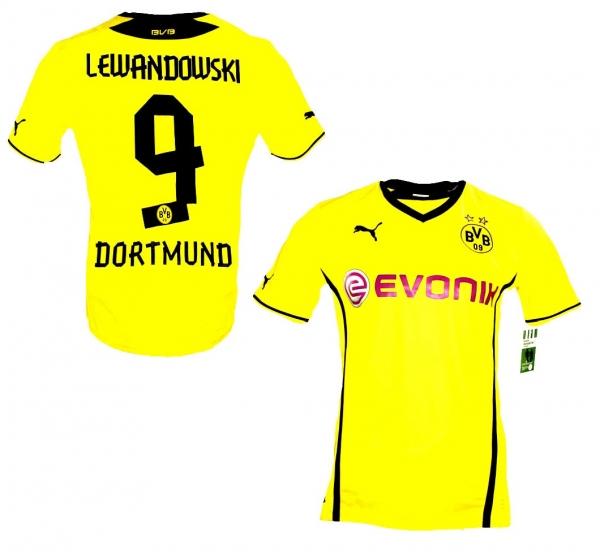 Puma Borussia Dortmund Jersey 9 Lewandowski 2013/14 Evonik ...